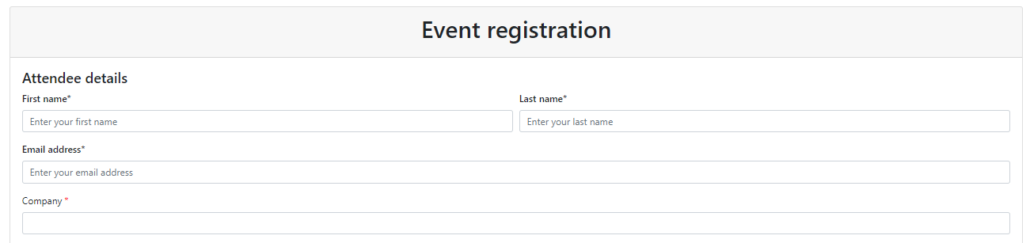 Dynamics 365 Marketing - For A Fact Event Custom Registration fields on form