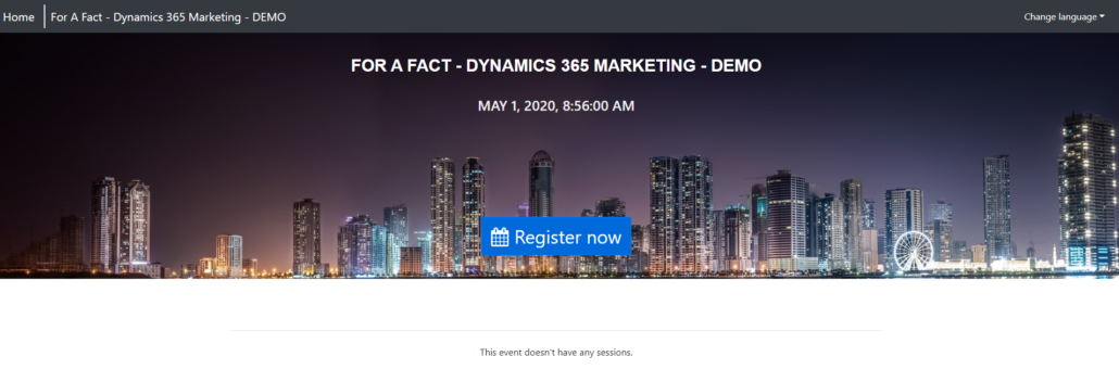 Dynamics 365 Marketing - For A Fact Event No sessions