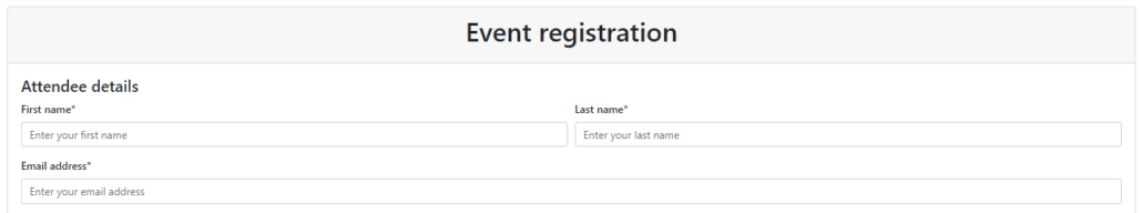 Dynamics 365 Marketing - For A Fact Event Registration
