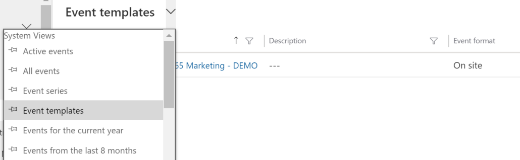 Dynamics 365 Marketing - For A Fact Event Templates