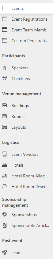 Dynamics 365 Marketing - For A Fact Event options