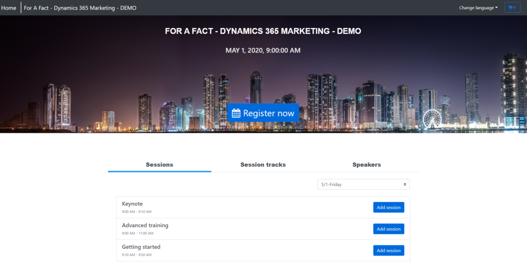 Dynamics 365 Marketing - For A Fact Events