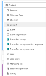 Dynamics 365 Marketing - For A Fact Segment data options