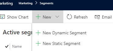 Dynamics 365 Marketing - For A Fact Segment options