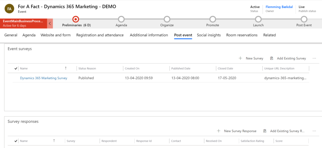Dynamics 365 Marketing - For A Fact post Event
